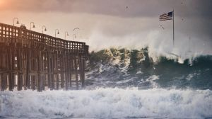 Photographer Ricky Staub posted this photo of a massive wave crashing into the Ventura pier on his Instagram account, @NeighborhoodFilm, on Dec. 11, 2015.