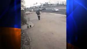 A neighbor of Natassa Torralbo provided this surveillance video allegedly showing the person who burglarized her Victorville home on Dec. 4, 2015.