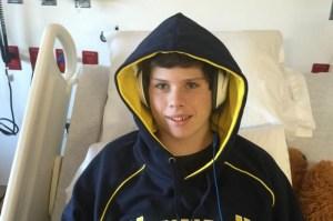 Trevor Sullivan, 15, is seen in a Michigan hospital. (Credit: Team Trevor/GoFundMe)