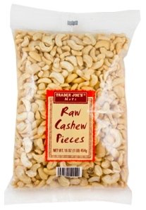 Trader Joe's Raw Cashew Pieces are seen in an image taken from their website.