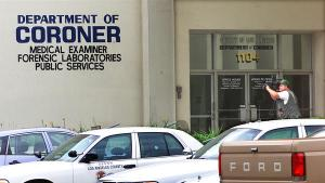A file photo shows the exterior of the Los Angeles County Department of Medical Examiner-Corone in Boyle Heights. (Credit: Ken Hively / Los Angeles Times)