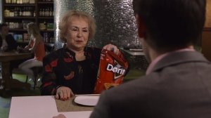 "Doris Roberts, of the TV show ""Everybody Loves Raymond,"" appeared in a Doritos Crash the Super Bowl commercial in 2016."