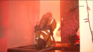 Firefighters battled an intense blaze at a house in Granada Hills on Jan. 4, 2016. (Credit: OnScene TV)