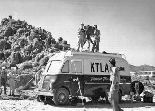A KTLA remote unit is shown circa 1950.