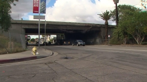 A 44-year-old man was fatally struck in the Pico-Union area of Los Angeles on Jan. 7, 2016. (Credit: KTLA)