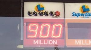 The Powerball jackpot climbed to a record $900 million on Jan. 9, 2016. (Credit: Erin Myers / KTLA)