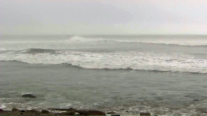 A high surf advisory was in effect for parts of Southern California on Jan. 19, 2016. (Credit: KTLA)