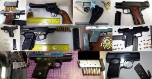Guns seized by TSA agents are seen in an image posted to their Instagram account.