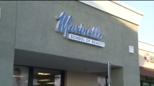 A Marinello Schools of Beauty location is seen in an undated file photo. (Credit: KTLA)