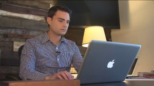 Ben Shapiro, editor in chief of DailyWire.com, is seen on Feb. 24, 2016. (Credit: KTLA)