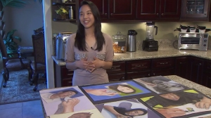 Sarah Ki, a student at Santiago High School in Corona, talked on Feb. 7, 2016, about getting a perfect score on her AP art exam. (Credit: KTLA)