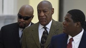 Bill Cosby is seen arriving at Montgomery County Courthouse in Norristown, Pennsylvania on Feb. 2, 2016. (Credit: Michael Mercanti)