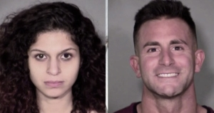 Chloe Scordianos and Philip Panzica were pictured in booking photos.