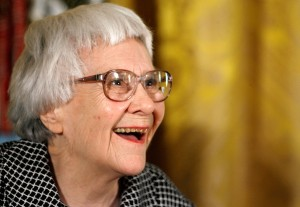 Pulitzer Prize winner and 'To Kill A Mockingbird' author Harper Lee smiles before receiving the 2007 Presidential Medal of Freedom in the East Room of the White House November 5, 2007 in Washington, DC. (Credit: Chip Somodevilla/Getty Images)