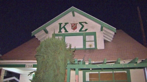 A Cal State Long Beach student told police she was sexually assaulted during a party at the Kappa Sigma fraternity over the weekend. (Credit: KTLA)