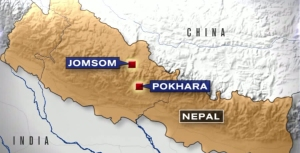 A Tara Air plane carrying 23 people crashed Wednesday in a mountainous region of northern Nepal. (Credit: KTLA)