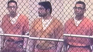 From left to right; Jonathan Tieu, Hossein Nayeri and Bac Duong; are seen in separate court appearances on Feb. 1, 2016. (Credit: KTLA)