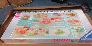 A Ravensburger puzzle that contained over 1,000 ecstasy pills is seen in a photo provided by the Riverside Police Department.