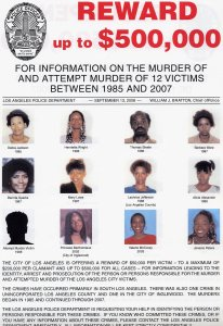 This is the reward poster provided by the LAPD for the Grim Sleeper. (Credit: LAPD)