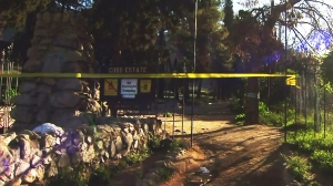 Echo Mountain hiking trails were closed Monday after possible human remains were discovered above Altadena. (Credit: KTLA)
