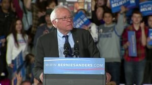 Sen. Bernie Sanders of Vermont speaks at a campaign rally in Madison, Wisconsin, on March 26, 2016. (Credit: CNN)