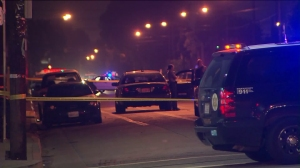One person was fatally shot in the Florence-Firestone area of South Los Angeles when deputies opened fire Wednesday morning. (Credit: KTLA)