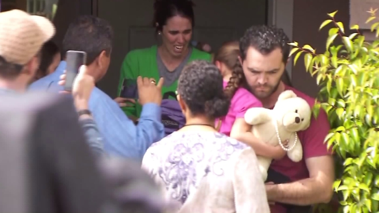 A 6-year-old girl at the center of a long custody battle was removed from her Santa Clarita foster family's home on March 21, 2016. (Credit: KTLA)