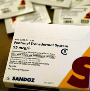 Unused Fentanyl patch packets are seen in an undated file photo. (Credit: Glenn Koenig/Los Angeles Times)