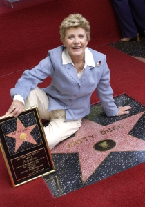 Actress Patty Duke attends a ceremony honoring her with a star on the Hollywood Walk of Fame August 17, 2004 in Hollywood, California. (Credit: Vince Bucci/Getty Images)