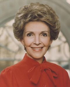 Nancy Reagan is seen in an official White House portrait from 1983. (Credit:The Ronald Reagan Presidential Library and Museum)