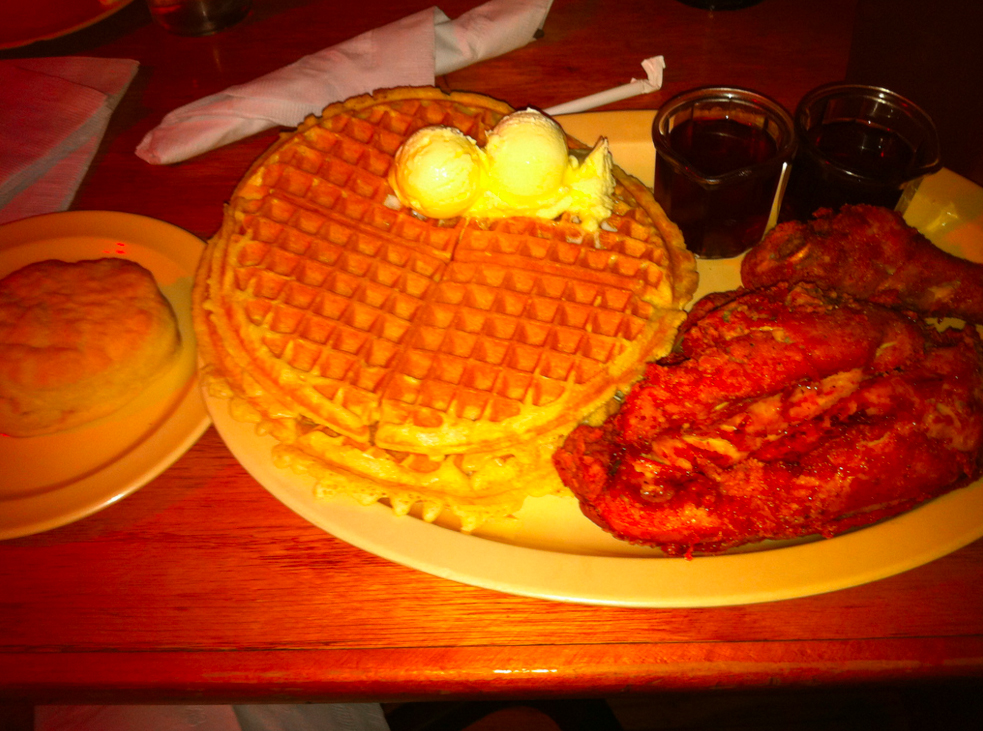 File photo of Roscoe's chicken and waffles. (Credit: Adamiwebb/Flickr)