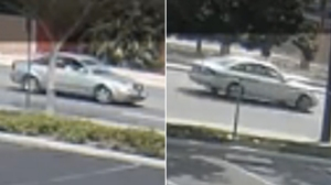San Bernardino police released surveillance video showing this vehicle being sought in connection with the fatal crash of another traveling nearby on March 21, 2016.