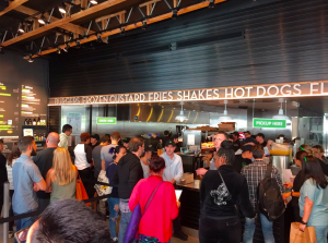 Shake Shack made its California debut in West Hollywood on March 15, 2016. (Credit: Dave Mecham/KTLA)