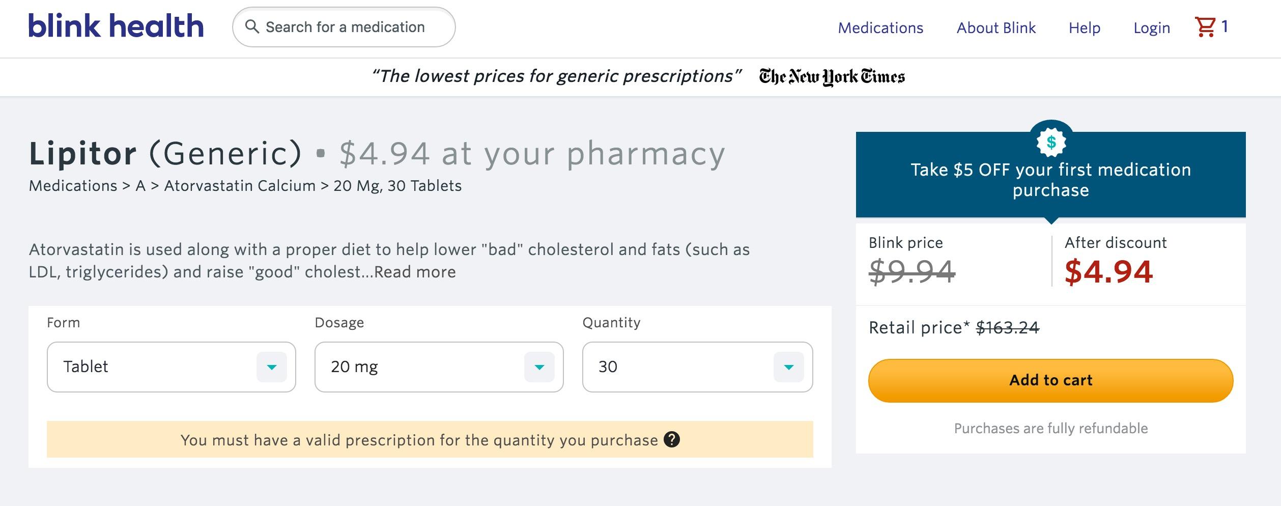 blink health save prescriptions