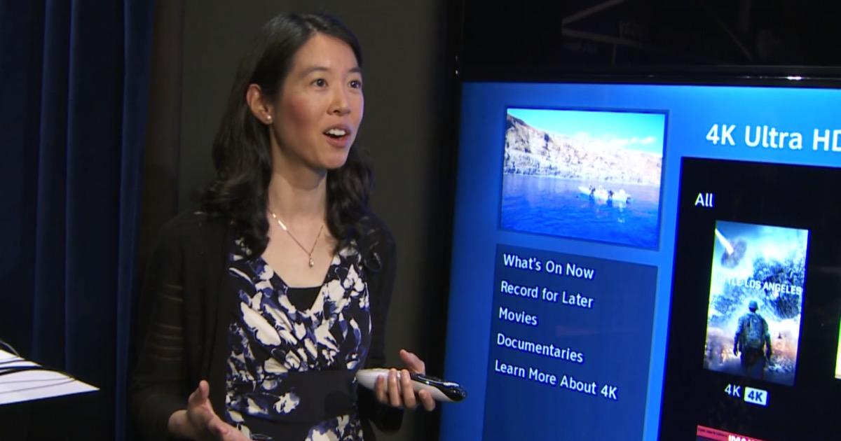 Joy Lin, a senior product manager at DIRECTV, demos 4K