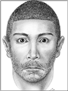 A sketch of a man sought in a series of attacks along a popular jogging trail in South L.A. was released by the Los Angeles Police Department.