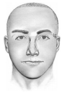 A composite sketch depicts a man being sought in the attempted abduction of a 13-year-old boy in Ontario. (Credit: Ontario Police Department)