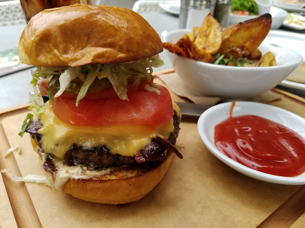 Exclusive Cheeseburger at California Pizza Kitchen Las Vegas