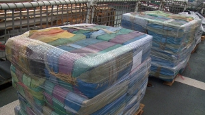 The US. Coast Guard has handed 14 tons of seized cocaine over to the Drug Enforcement Agency.(Credit: KSWB)