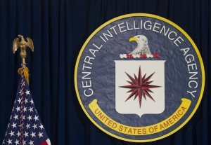 The logo of the Central Intelligence Agency is seen at CIA Headquarters in Langley, Virginia, April 13, 2016. (Credit: SAUL LOEB/AFP/Getty Images)