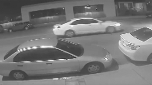 Surveillance video was released by police on April 19, 2016 of a car sought in a deadly hit-and-run crash in Glendale.