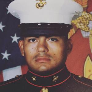 Douglas Rivas-Rauda, a U.S. Marine who was stationed at Twentynine Palms, is seen in a photo published on his Facebook page.