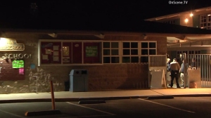 Investigators respond to a fatal explosion at Madrona Elementary School in Thousand Oaks on April 4, 2016. (Credit: OnScene.TV)