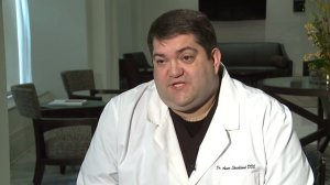 Dr. Aaron Strickland denied performing a full mouth extraction on a patient without consent. (Credit: WXIN)
