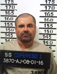 "Joaquin ""El Chapo"" Guzman is seen in a booking photo after his arrest on Jan. 8, 2016. (Credit: Federal Social Readaptation Center No. 1/Handout)"