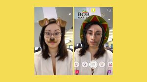 Snapchat added a new Bob Marley lens for 4/20 that has sparked outrage online. (Credit: SnapChat/CNNMoney)
