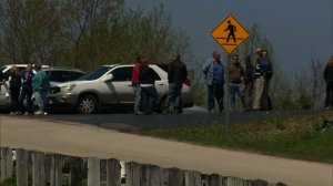 """Community members gather at a church on April 23, 2016, one day after seven adults and a 16-year-old were found shot in the head """"execution-style,"""" most while they slept, in Pike County, Ohio. (Credit: CNN)"""