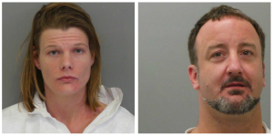 Brittany Golden and Terry Roderick are seen in booking photos obtained by KTVI.