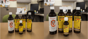 Anaheim police on April 12, 2016, provided images of prescription cough syrup allegedly found at Joey Baldovinos' Alhambra apartment.