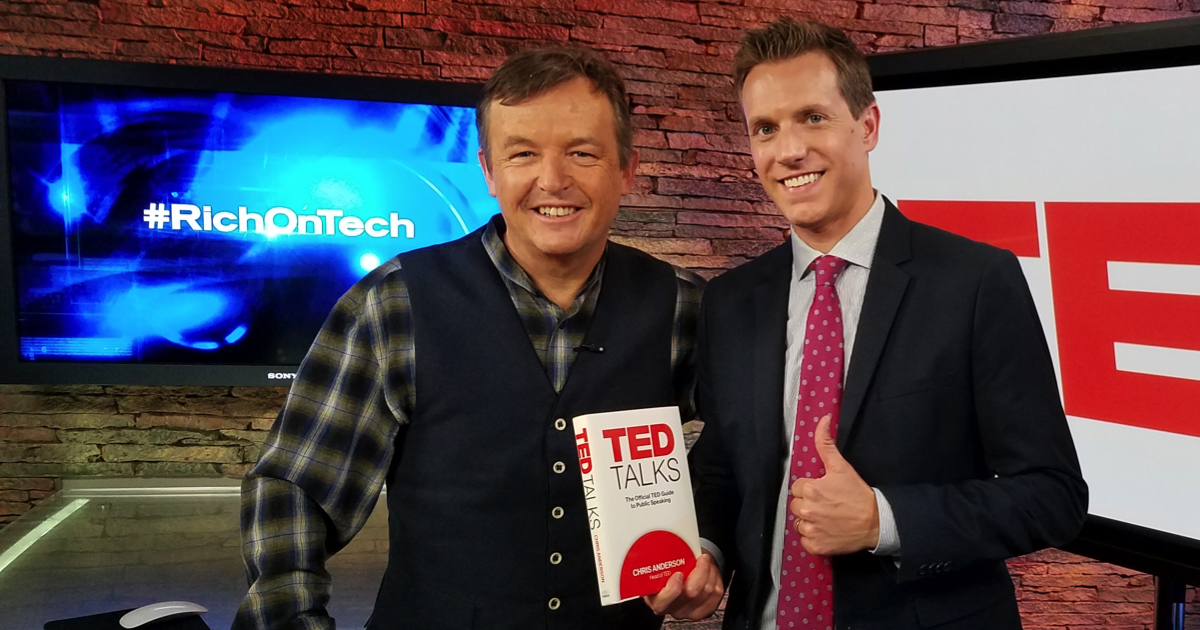 TED Curator Chris Anderson and KTLA Tech Reporter Rich DeMuro